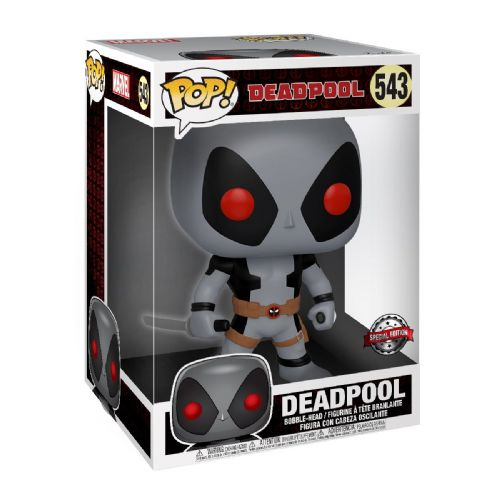 "Funko Pop! Vinyl 10"" Marvel Deadpool Uncanny X-Force Grey Suit Figure - Pre-Order"